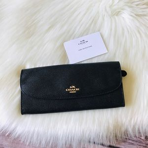 New Authentic Coach Slim Envelope Leather Wallet